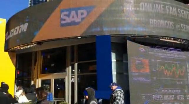 SAP Struts Its Stuff on Super Bowl Boulevard