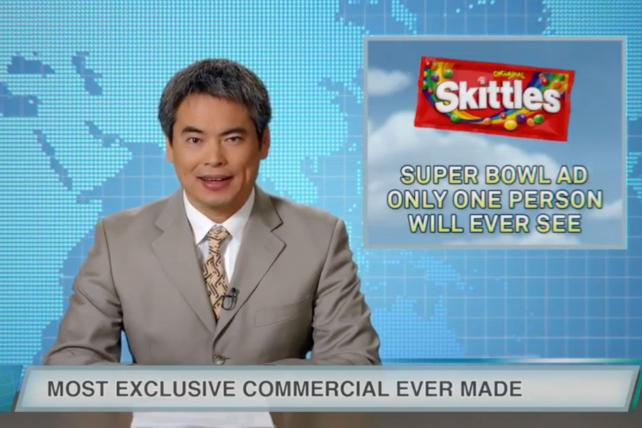 In 2018 Skittles made a commercial for one person that it promoted to the masses