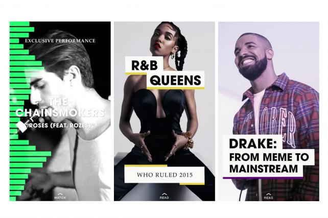 Snapchat is running its own music-themed channel on Discover through the end of 2015.