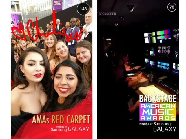 Snapchat debuted its second ad product Sunday night, an 'Our Story' stream sponsored by Samsung.