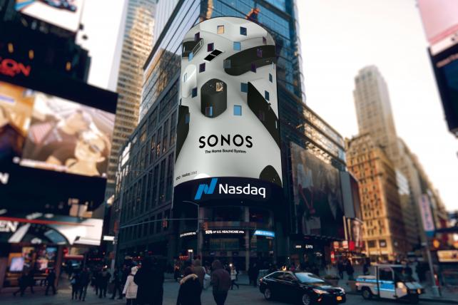 To ring in its IPO, Sonos redesigned Nasdaq's opening bell