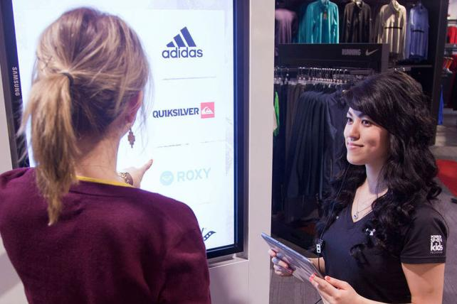 At the Sport Check/Atmosphere store in Canada's West Edmonton Mall, Huge created an interactive retail experience with 470 digital screens.
