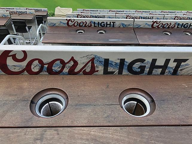 Coors has refrigerated cup holders in SunTrust Park