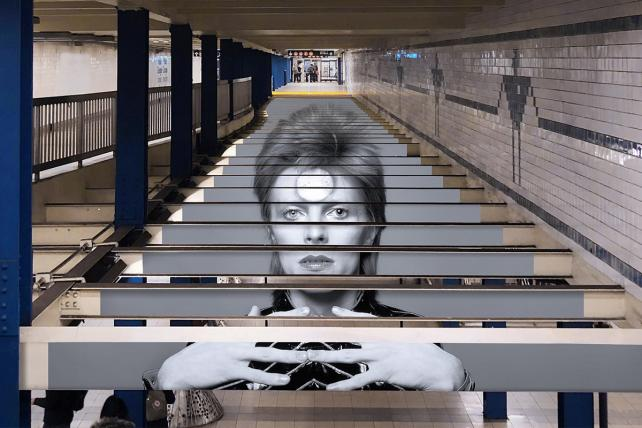 Spotify's David Bowie subway takeover.