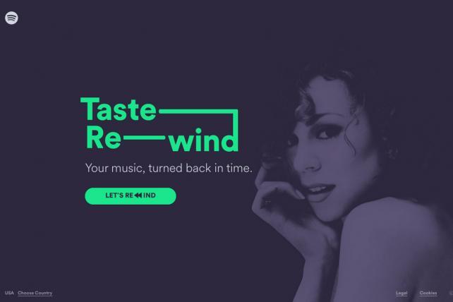 Spotify's 'Taste Rewind'
