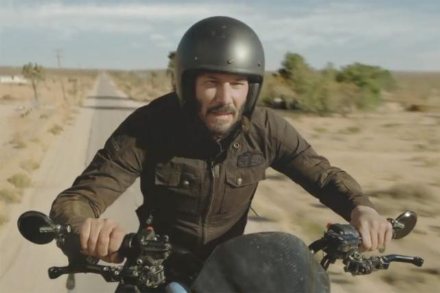 Squarespace's Super Bowl Ad Is Just Keanu Standing on a Motorcycle