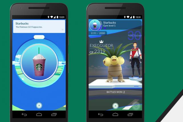 Starbucks is hoping to attract Pokémon Go players by making many of it stores locations to find or strengthen virtual creatures.