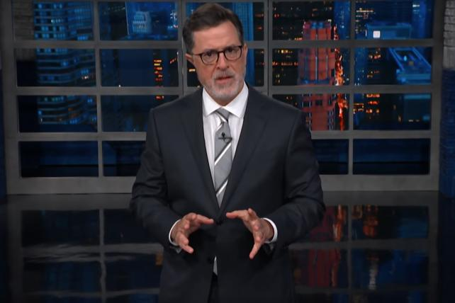 Watch Colbert deconstruct Trump's Puerto Rico death-toll conspiracy theory
