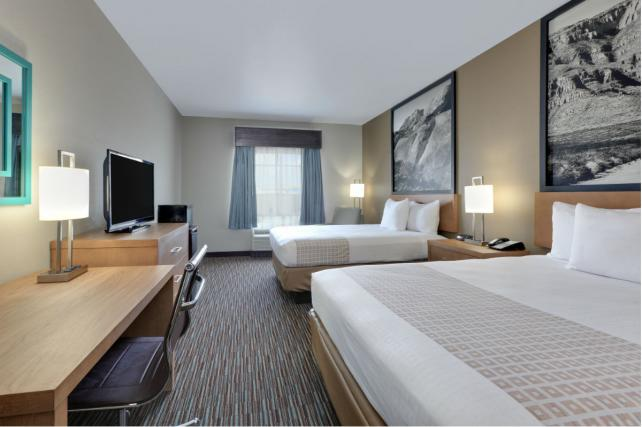 Super 8 Hotels, such as this one in Midland, Texas, have a new look with hyperlocal photographs