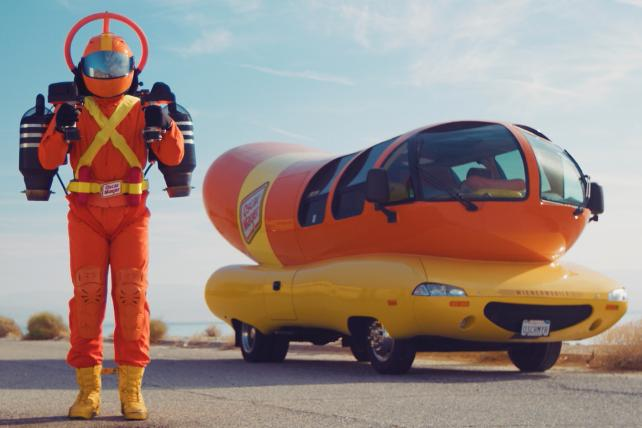 Oscar Mayer tries 'bun-believable' stunt with jetpack superhero