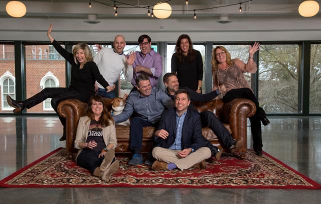 (Clockwise from top l.) Carmina Drummond, Jerry Hoak, Michael Chapman, Kristen Cavallo, Janet White, Karen Costello, Glitter Hoak, Chris Shumaker, Chris Mumford, Steve Humble