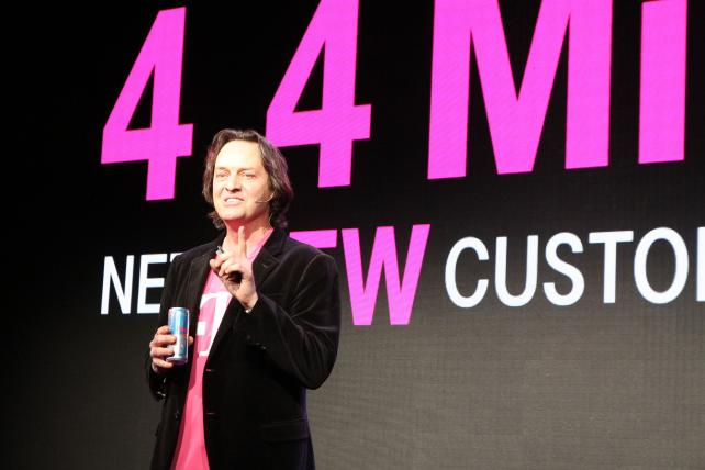 John Legere at the Consumer Electronics Show in January.