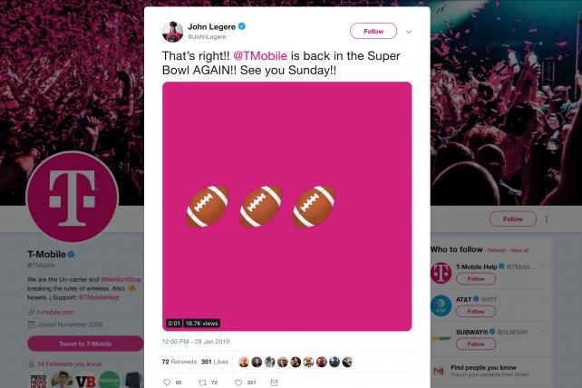 T-Mobile confirms it's returning to its sixth consecutive Super Bowl