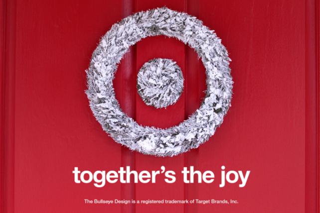 Target's holiday campaign starts Nov. 1.