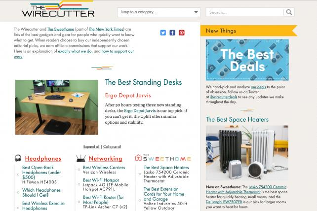 The Wirecutter, a product-review site that receives a share of the revenue when readers decide to buy, is becoming part of The New York Times.
