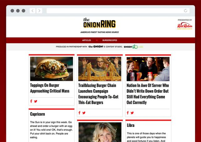 The Onion Ring Homepage
