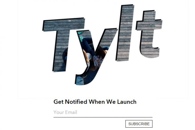 The Tylt's landing page as it stands now.