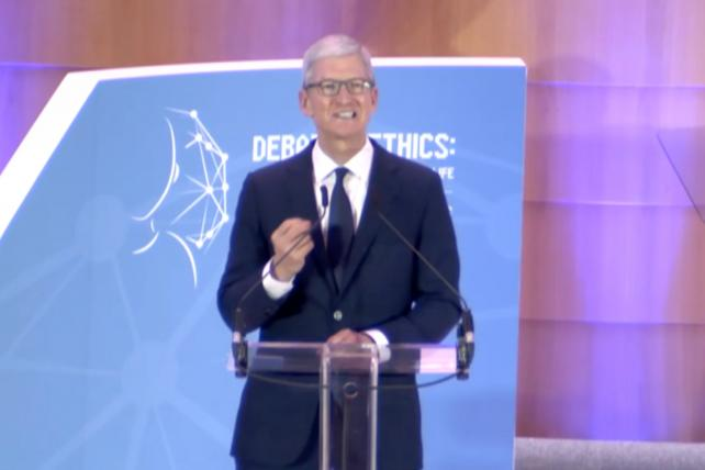 Tim Cook at an EU privacy conference in Brussels on Wednesday