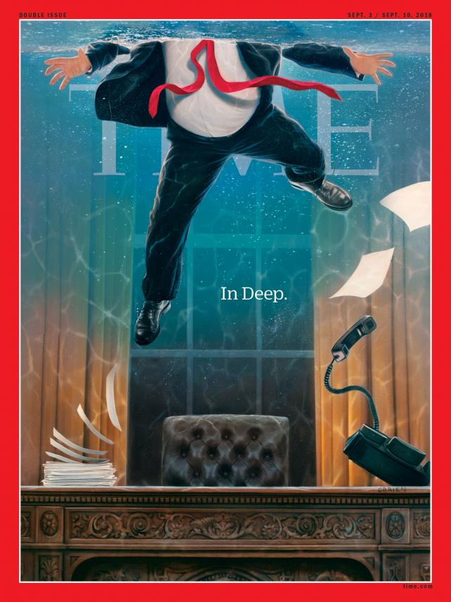 The Sept. 3/10, 2018 Time magazine cover.