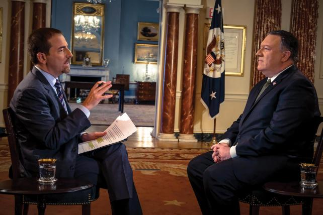 Todd interviews Secretary of State Mike Pompeo.