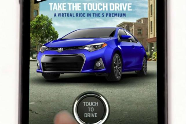 Toyota used Blue Bite technology to market redesigned Corolla