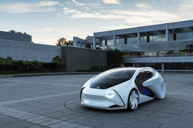 Toyota revealed this concept car with AI capabilities.