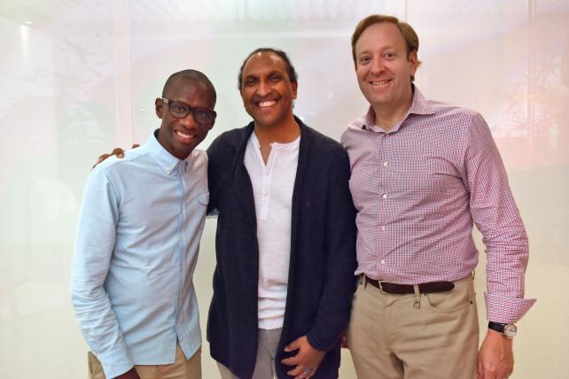 Troy Carter (from left), James Andrews and Andrew Benett of Smashd Group.