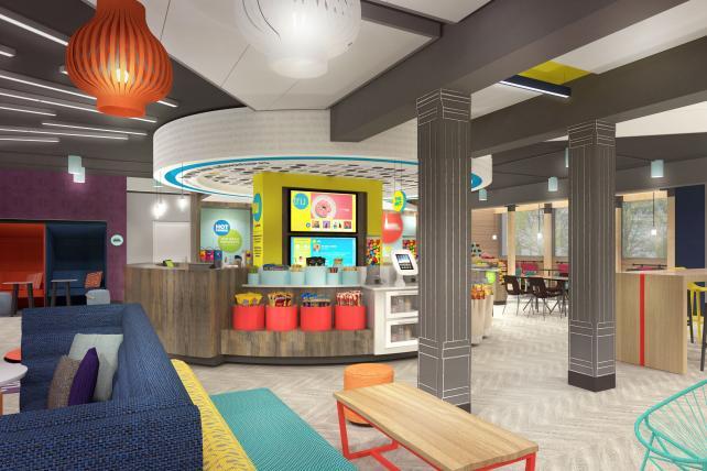 Tru by Hilton's envisioned lobby