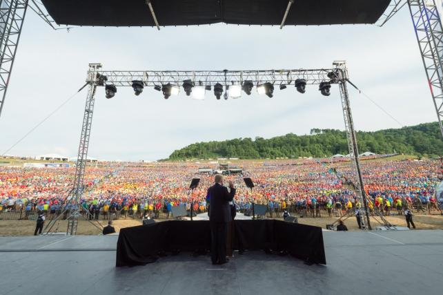 President Trump at the National Scout Jamboree, July 24.