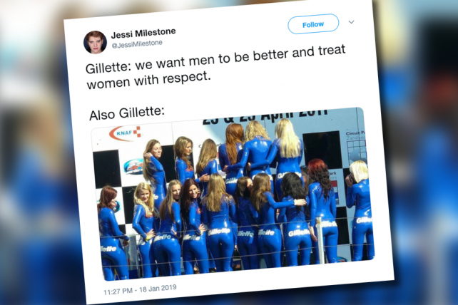 Gillette under social media fire for old promo that objectified women