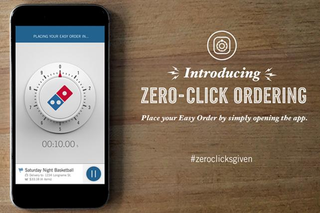 Domino's Cooks Up Its Latest Tech Move: Zero Click Ordering