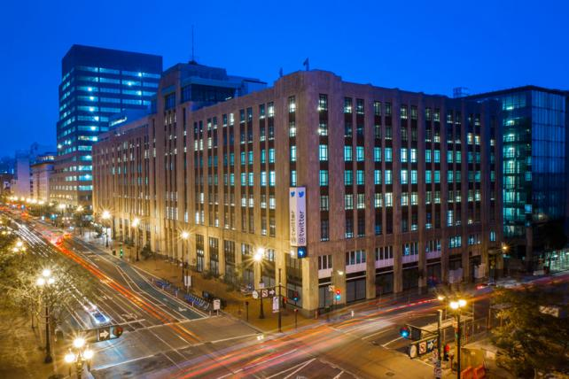 Twitter's Market Street headquarters in San Francisco. The company said Tuesday that growing competition for social media ad budgets was having an effect.