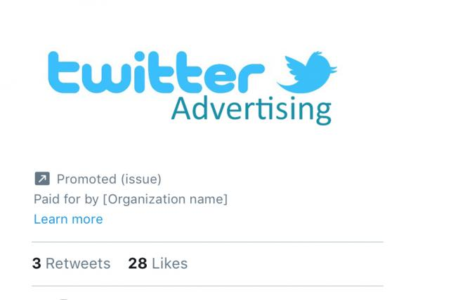 Twitter will label ads if they touch on political issues.