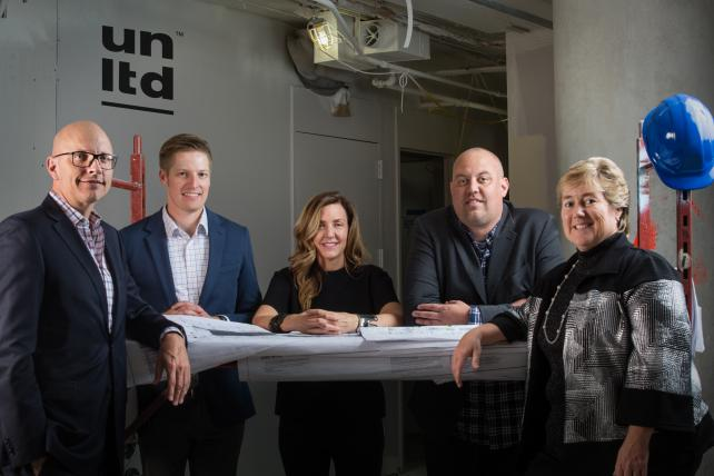 We Are Unlimited (from l.): Brian Nienhaus, chief executive officer; Chip Knicker, chief digital officer; Graceann Bennett, chief strategy officer; Jon Ellis, chief production officer; Linda Poe, chief financial officer
