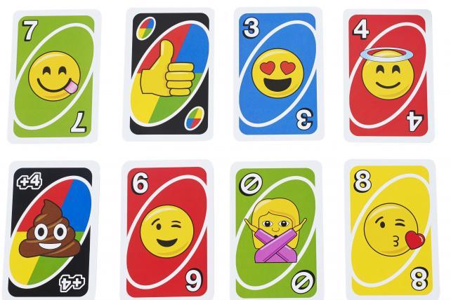 Uno plays with Emoji.