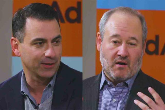 Twitter's Matt Derella (l.) and Bloomberg's Scott Havens