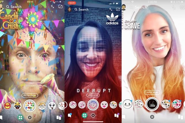 'Candy Crush,' Adidas and Clairol have tried the new lenses ads.