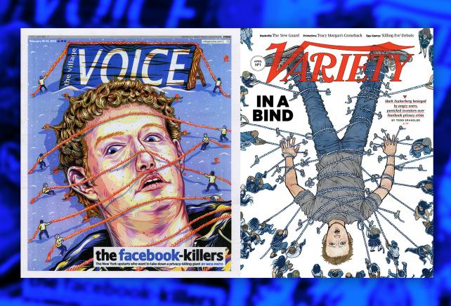 Who wore it best? Take your pick of Zuckerberg-as-Gulliver covers