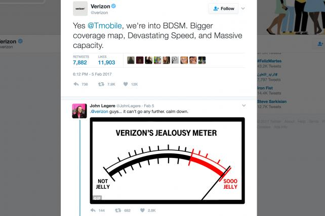 Even brands like Verizon can find themselves in Twitter spats.