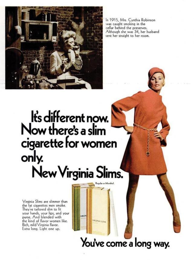 Virginia Slims classic ad
