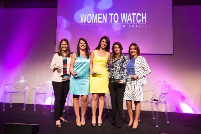 (From l.) Paula Lindenberg, AmBev; Paula Leal da Costa, L'Oreal Brasil; Cris Duclos, Vivo; Flavia Altheman, Via Varejo; Martha Krawczyk, Visa.
