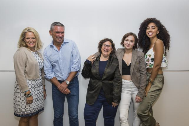 AT&T's Val Vargas, BBDO's Andrew Robertson, iHeartMedia's Gayle Troberman, 'ZallGood' star Alexis Zall and 'Laid' author Shannon Boodram assemble for the latest episode of the 'Tagline' podcast.