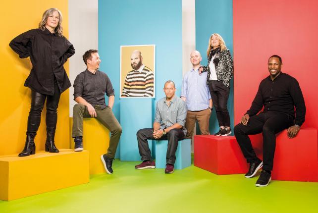 The W&K team (from l.): Colleen DeCourcy, Jason Bagley, Eric Baldwin (in absentia), Neal Arthur, Karl Lieberman, Susan Hoffman and Karrelle Dixon.