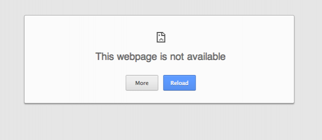 A message you get within China if you try to access a blocked news site.