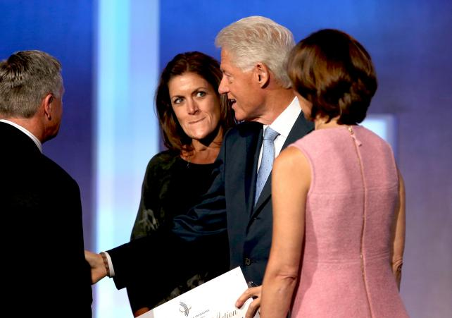 Wendy Clark with Bill Clinton at Clinton Global Initiative meeting.