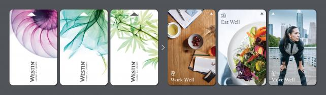 Westin's Key Cards Before (Left) and After Redesign