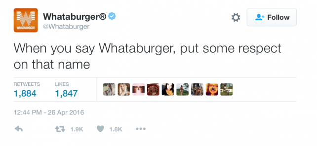 Whataburger's tweet playfully referenced a black meme.