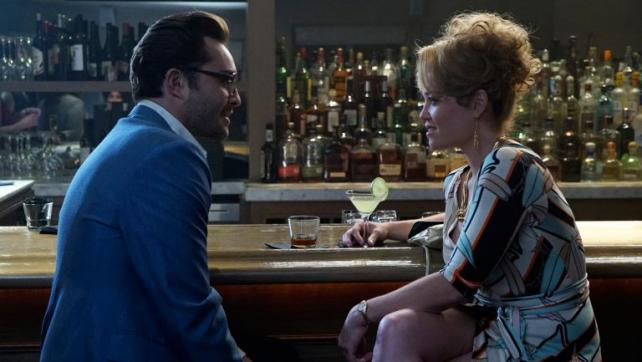 Ed Westwick as Kent Grainger and Erika Christensen as Betty Beaumontaine on 'Wicked City.'