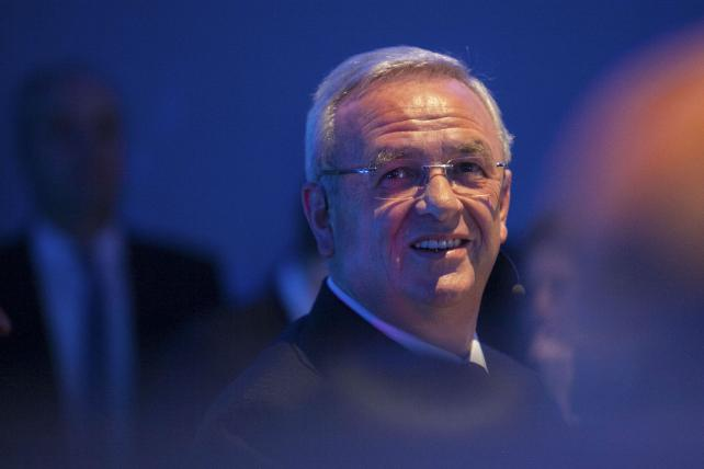 Volkswagen AG CEO Martin Winterkorn at a showroom opening earlier this year.