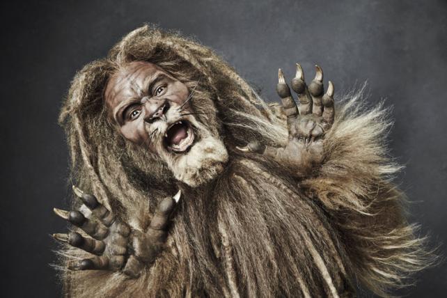 David Alan Grier as the Cowardly Lion.